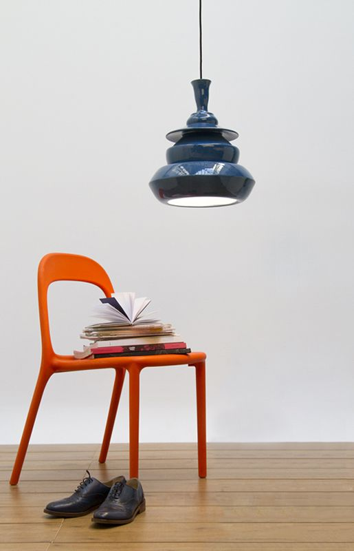 Solid Spin Lamp Blue