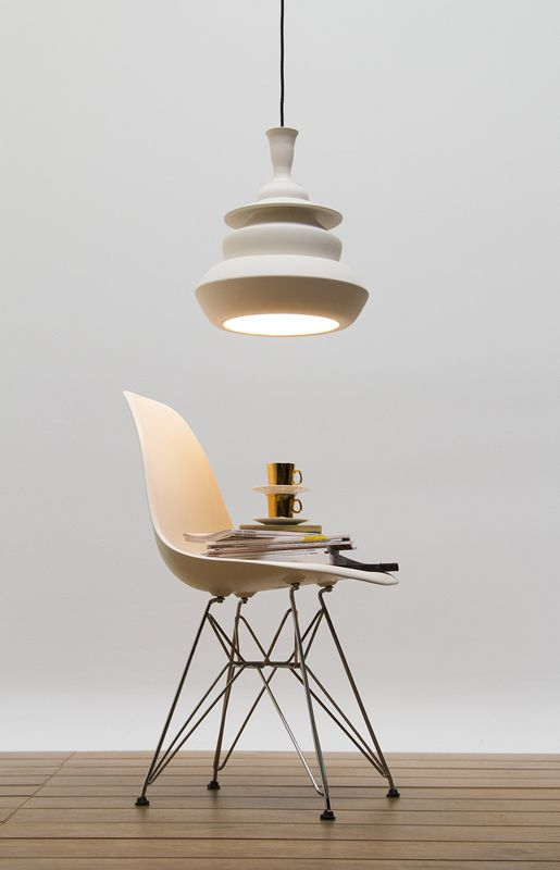 Solid Spin Lamp white