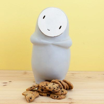 Galler the gray ceramic cookie jarpancete