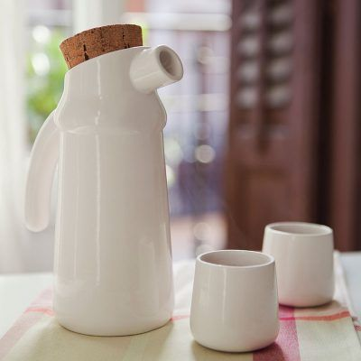 Flux natural cork and ceramic jug
