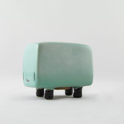 Casitas turquoise fenomenoide, the ceramic piggy bank of Tanata