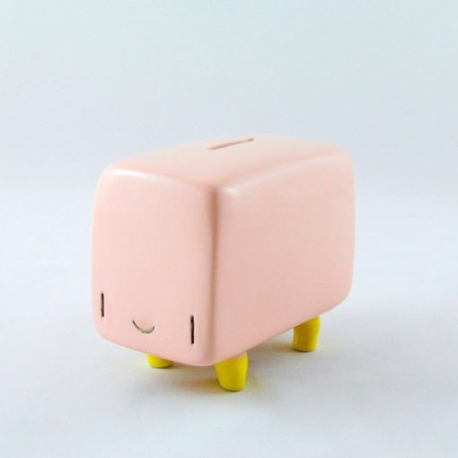 Ñoño pink fenomenoide, the ceramic piggy bank of Tanata