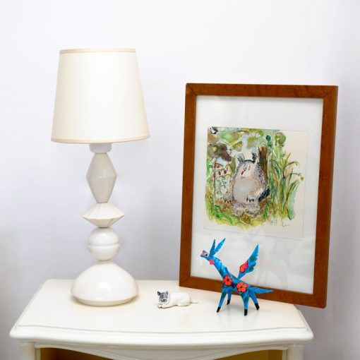 Equilibrista lamp small white with screen