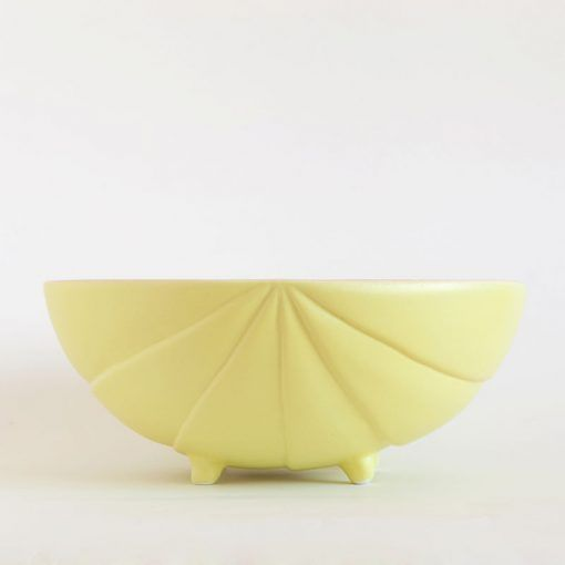 Bichobola salad bowl limon limon yellow matte